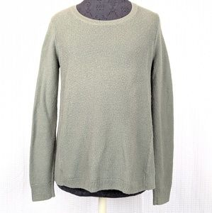 Madewell | Olive Riverside Textured Sweater Small